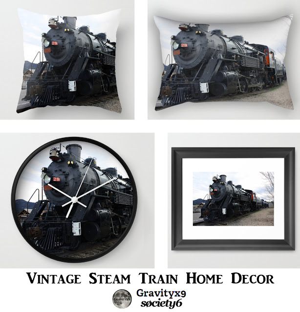 Vintage Steam Train Home Decor Accessories At Society6