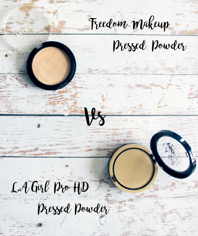 LA Girl Pro HD Pressed Powder Vs Freedom Makeup Pressed Powder