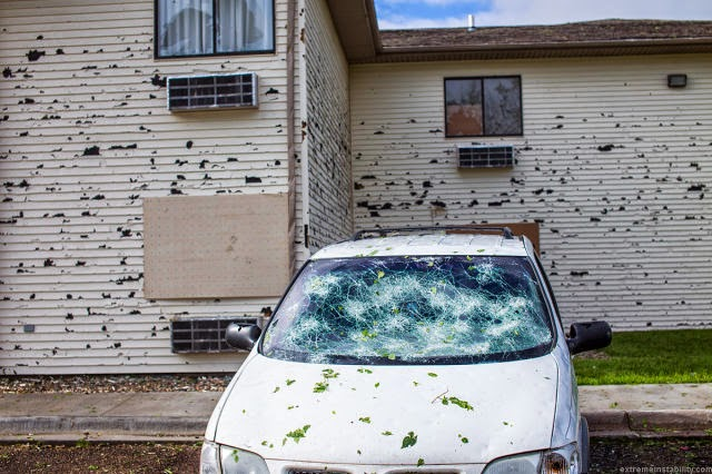 HAIL DAMAGE IN NEBRASKA
