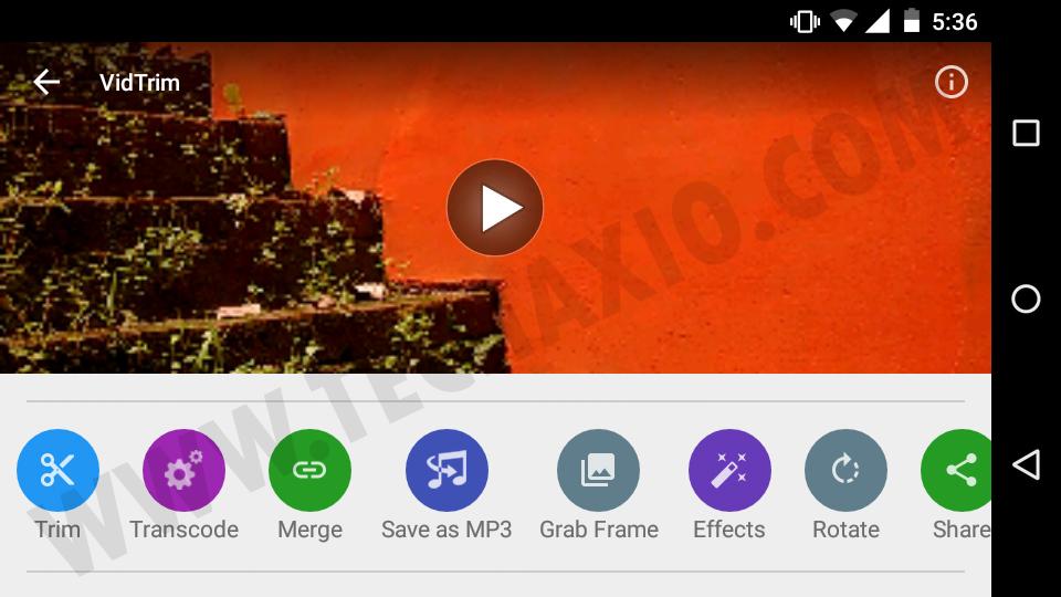 VidTrim Video Editor Screenshot