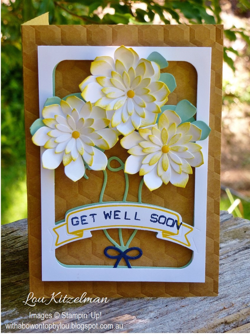 With a bow on top international blog highlight get well soon the great thing is that you see the pattern on the inside too now is it wrong to want someone to get sick now so i can give them my card kristyandbryce Gallery