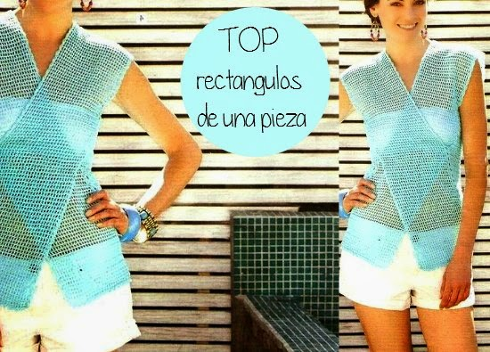 Top chaleco rectangular de una pieza