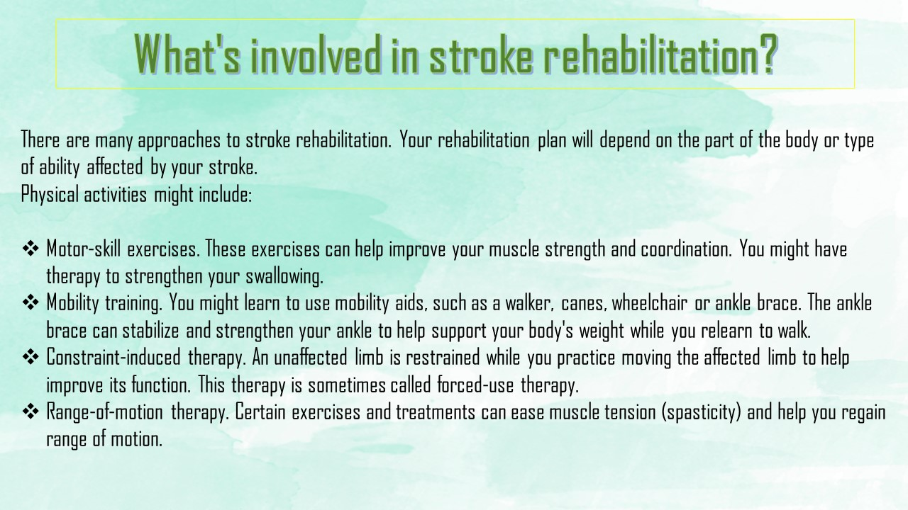 theory and construction care plan stroke rehabilitation The effect of nursing intervention based on orem's theory and concept of rehabilitation for movement, was the nursing care plan given to stroke.