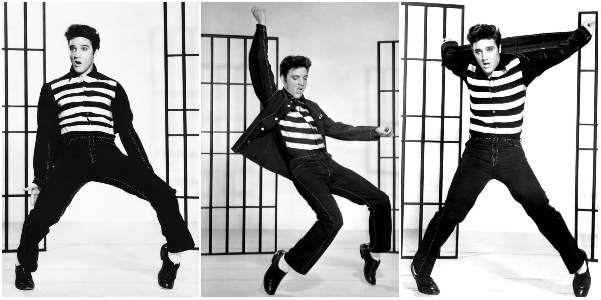 "the rock jail_Elvis Presley Promoting the Film ""Jailhouse Rock"", 1957 ~ vintage everyday"