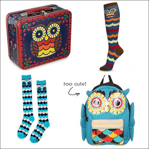 My Owl Barn Owl Bags Socks Lunch Box