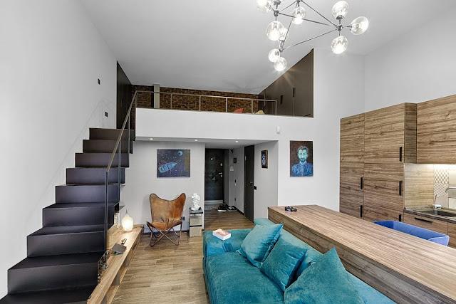 Дизайн-проекты. Спальня в мезонине добавляет дополнительное пространство небольшой квартире