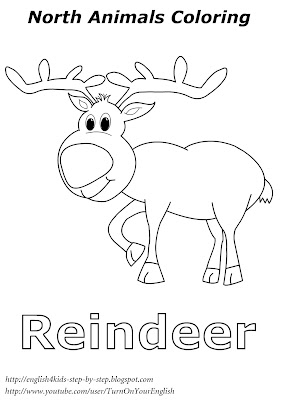 reindeer christmas coloring