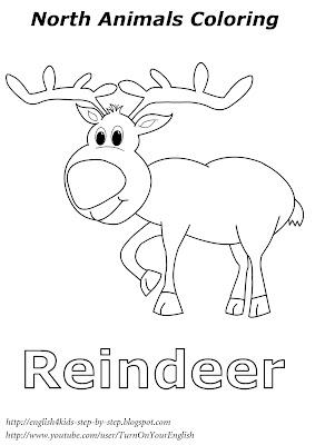 reindeer christmas coloring