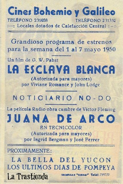 Programa de Cine - Juana de Arco - Ingrid Bergman - Jose Ferrer