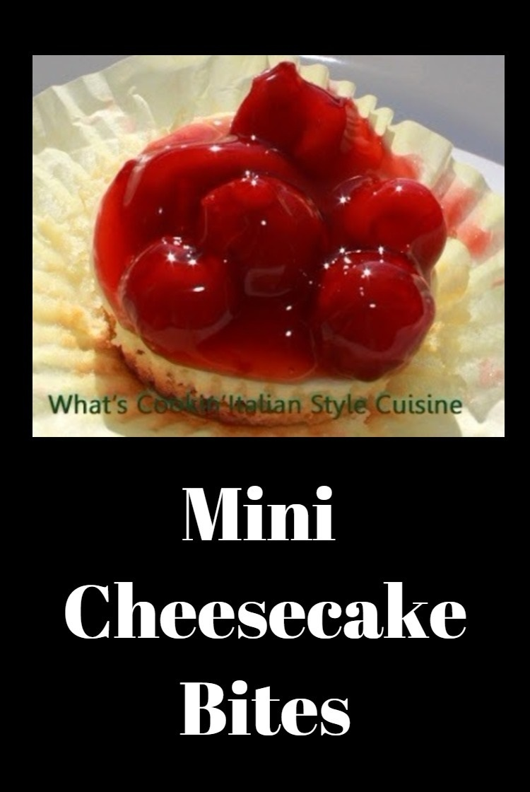 Mini Cupcake Cheesecake Bites