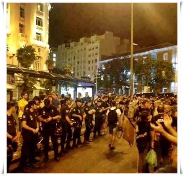 Στη Μαδρίτη οι αστυνομικοί στασίασαν!!!