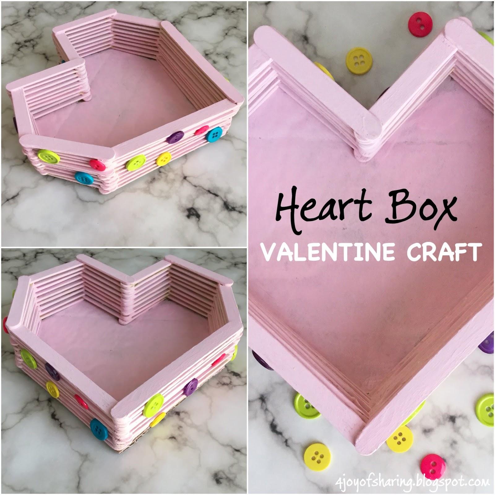 The joy of sharing diy heart box valentine craft valentines day craft valentines craft card ideas simple craft idea 10 mins jeuxipadfo Gallery
