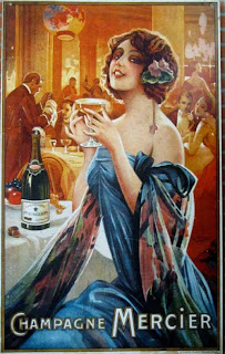 Early Mercier Champagne Advertisement
