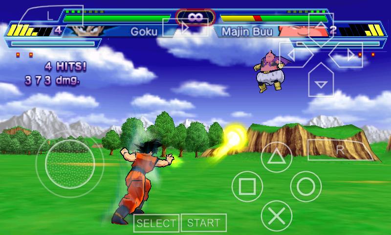 Free psp games download dragon ball z shin budokai 2.5