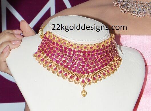 Malabar Gold Ruby Necklace