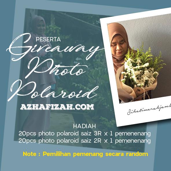 Senarai Peserta Giveaway Photo Polaroid azhafizah.com