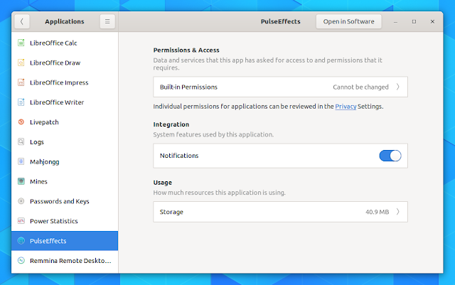 GNOME 3.32 application permissions