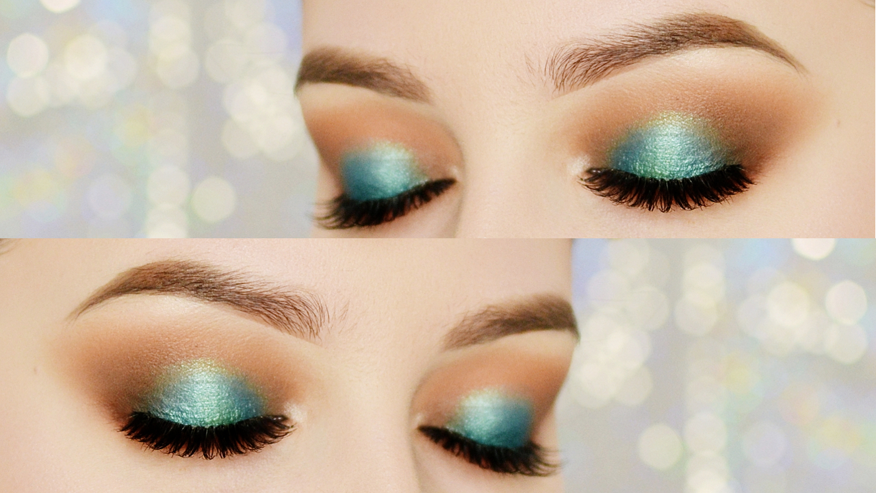 smokey eye z akcentem koloru makijaż