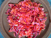 Carrot, Beetroot, Radish, Green gram sprouts, BSD