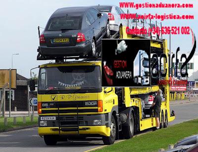 transporte de coches contenedor