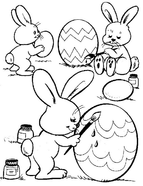 Happy Easter Day Egg For Drawing