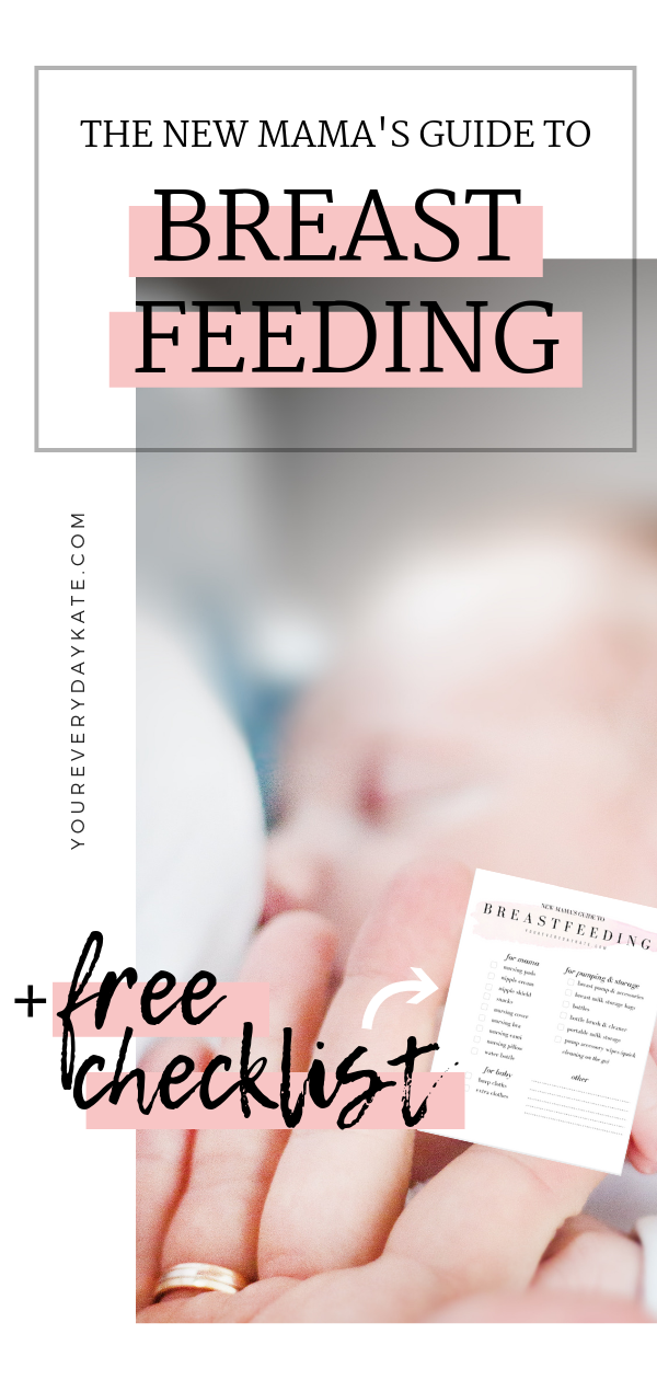 breastfeeding guide new moms essentials checklist