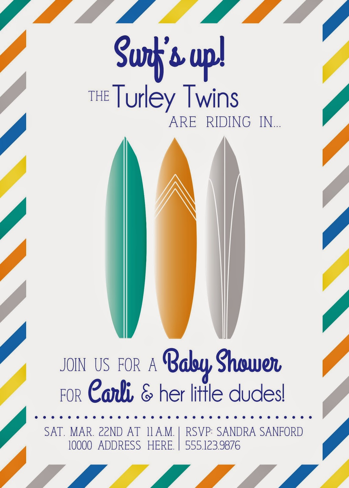 Top Surf Baby Shower Invitations WY54 Advancedmassagebysara