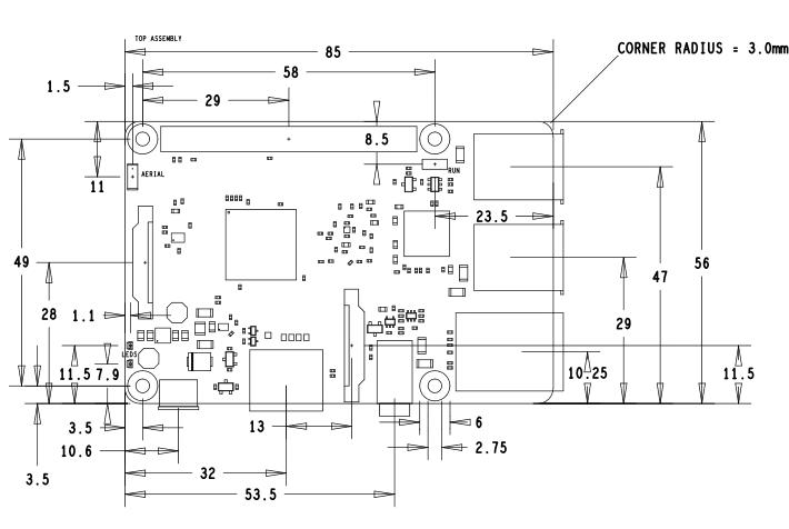 desenho mecanico raspberry pi 3