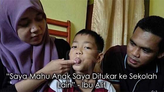 Ibu Budak Dipaksa Potong Lidah Sendiri Mahu Tukar Sekolah Anak