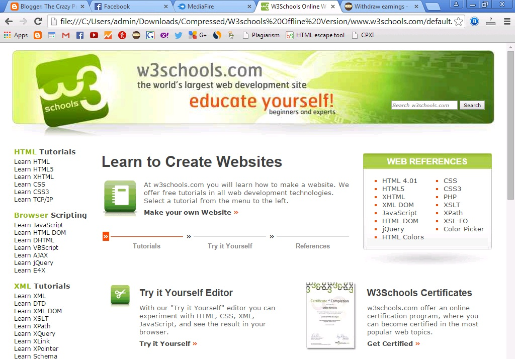 Teachers: W3Schools Offline Version Download Full Website