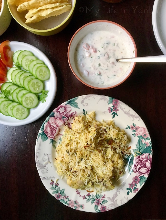 Hyderabadi Kachi Chicken Dum Biryani