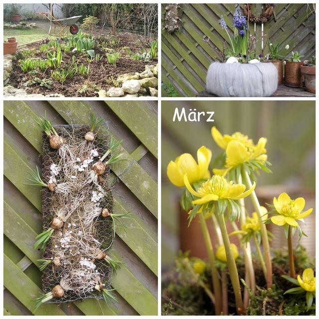 Frühlingsdeko Kränze aus Moos und Filz