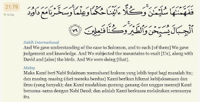 Image result for surah al anbiya ayat 79