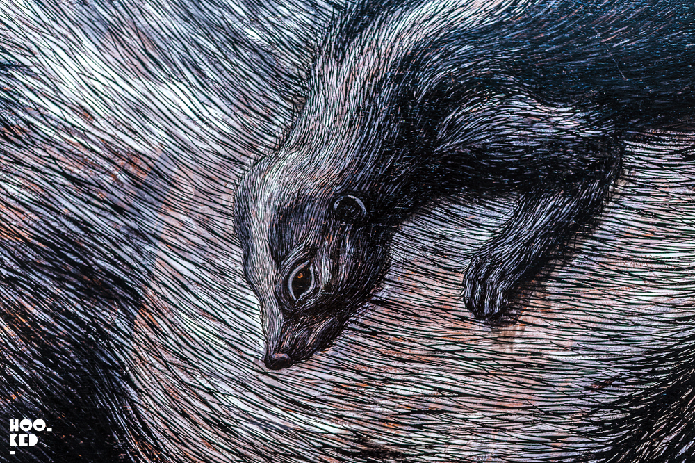 Gallery work by street artist ROA