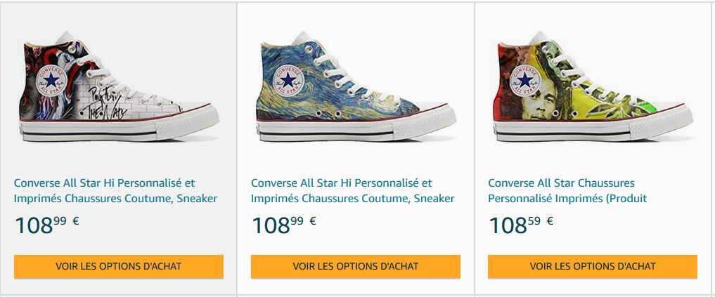 Chaussures converses montantes All Star pas cher