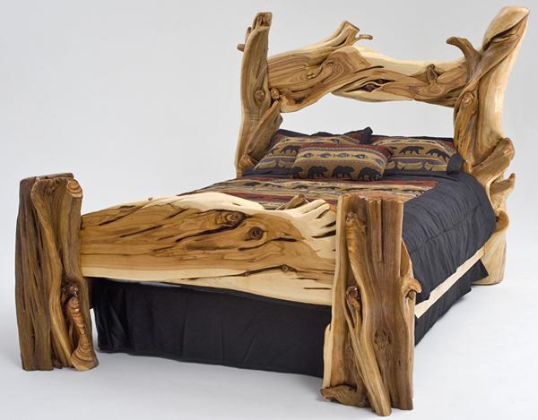 Juniper Log Bed Rustic Furniture