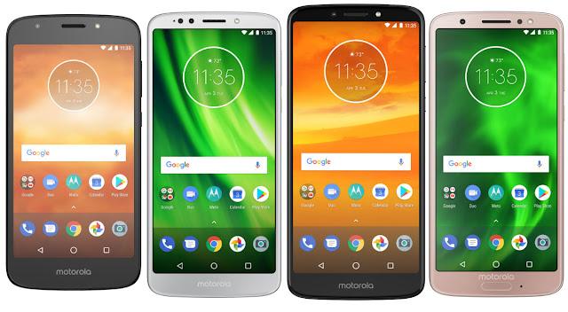 Moto E5 Play, G6 Play, E5 Plus, G6