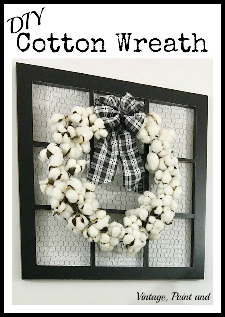 Vintage, Paint and more... diy cotton wreath made from a cotton garland
