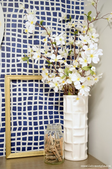 Stenciled Laundry Room Makeover Reveal