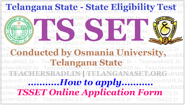 How to apply for TS SET 2019,TSSET Online application form,TelanganaSet