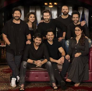 Golmaal Again (2017) - All Songs Lyrics & Videos: The film is directed by Rohit Shetty and produced by Rohit Shetty Productions & Mangal Murti Films. It stars Ajay Devgn, Tabu, Parineeti Chopra, Arshad Warsi, Tushar Kapoor, Shreyas Talpade, Kunal Khemu, Prakash Raj and Neil Nitin Mukesh. Golmaal Again soundtrack album has songs produced by various musicians – Amaal Mallik, S. Thaman & DJ Chetas while lyrics of all songs are penned by Kumaar.