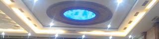 Plafon variasi dropceiling dengan lampu dan dome
