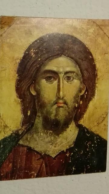 Ikoon van Christus, zoals afgebeeld naast mijn kamerdeur