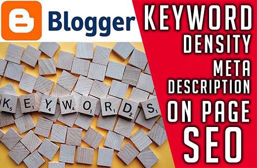 How to write SEO optimized blog post- Keyword density Meta description