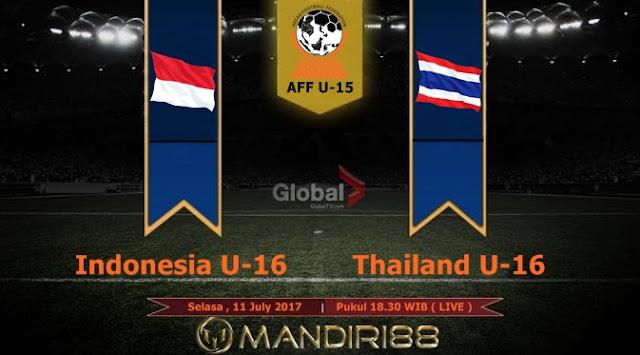 Prediksi Bola : Indonesia U-16 Vs Thailand U-16 , Selasa 11 July 2017 Pukul 18.30 WIB @ Global TV