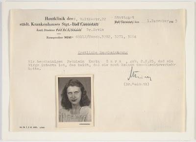 Karina Nartiss, nee Zars, German Document