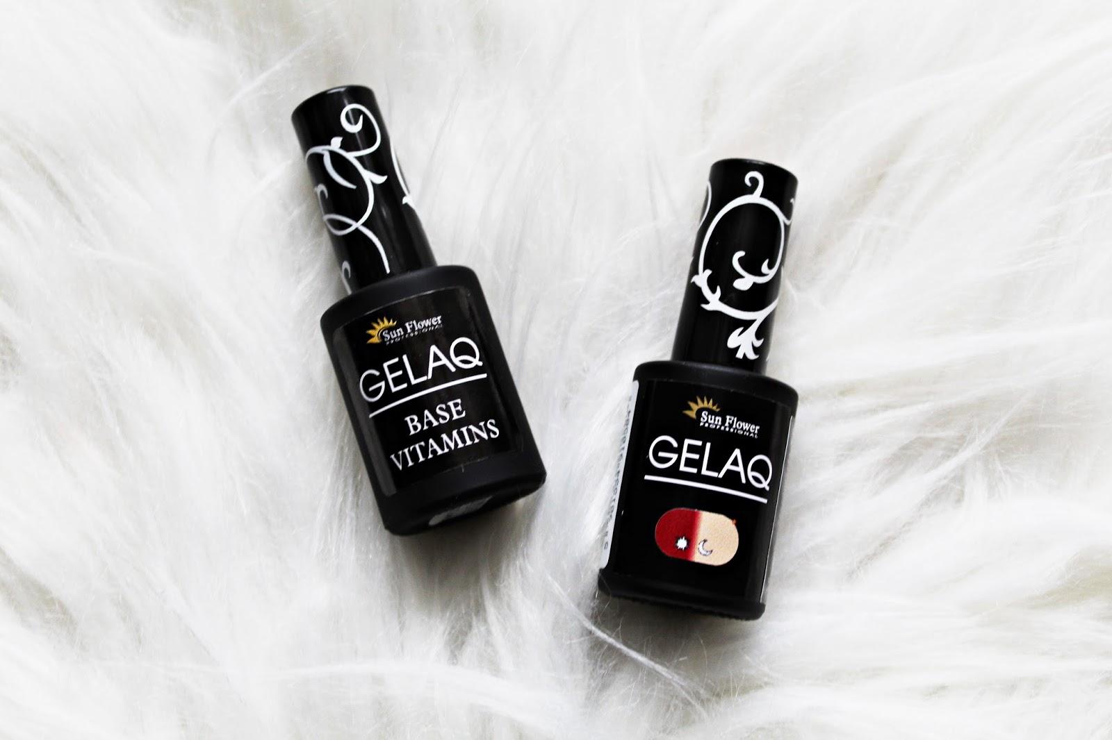 Klasyczne, czerwone paznokcie z Gelaq - SUNFLOWER Professional