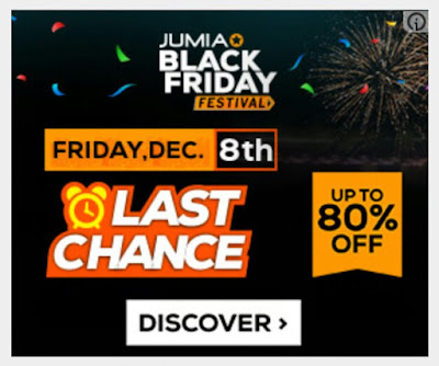 Jumia Black Friday Last Chance Deals - Friday 8th December