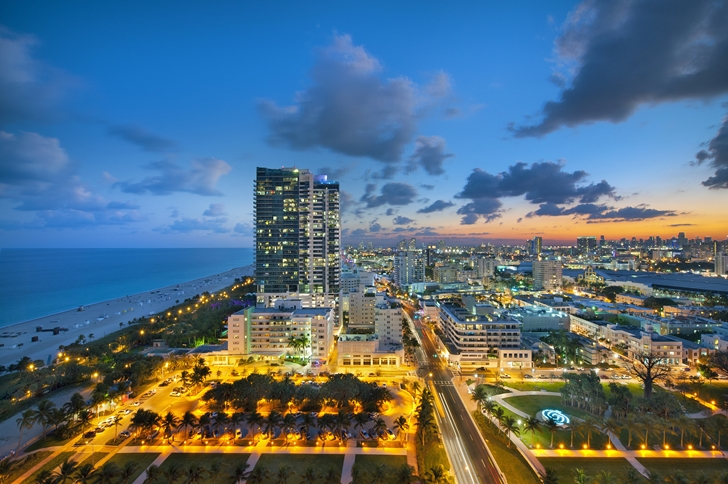 View from Miami Beach Penthouse