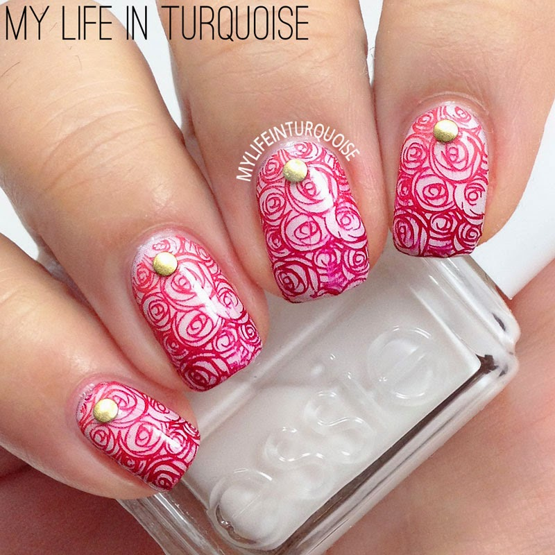 Princess-Roses-Nail-Art